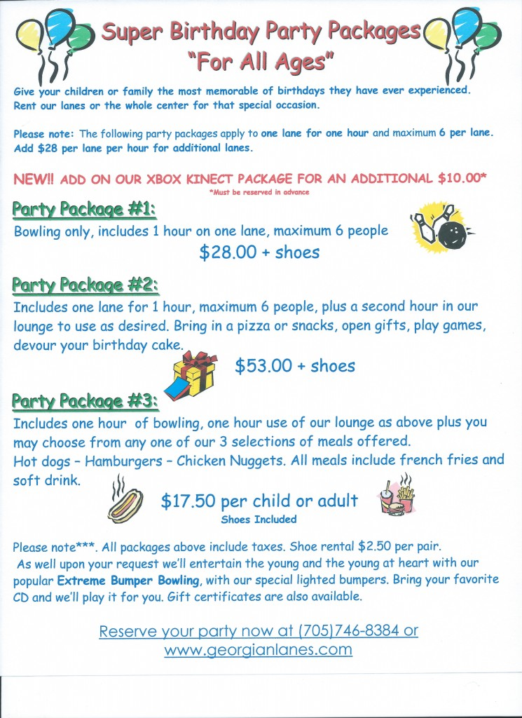 Birthday Party Packages 001