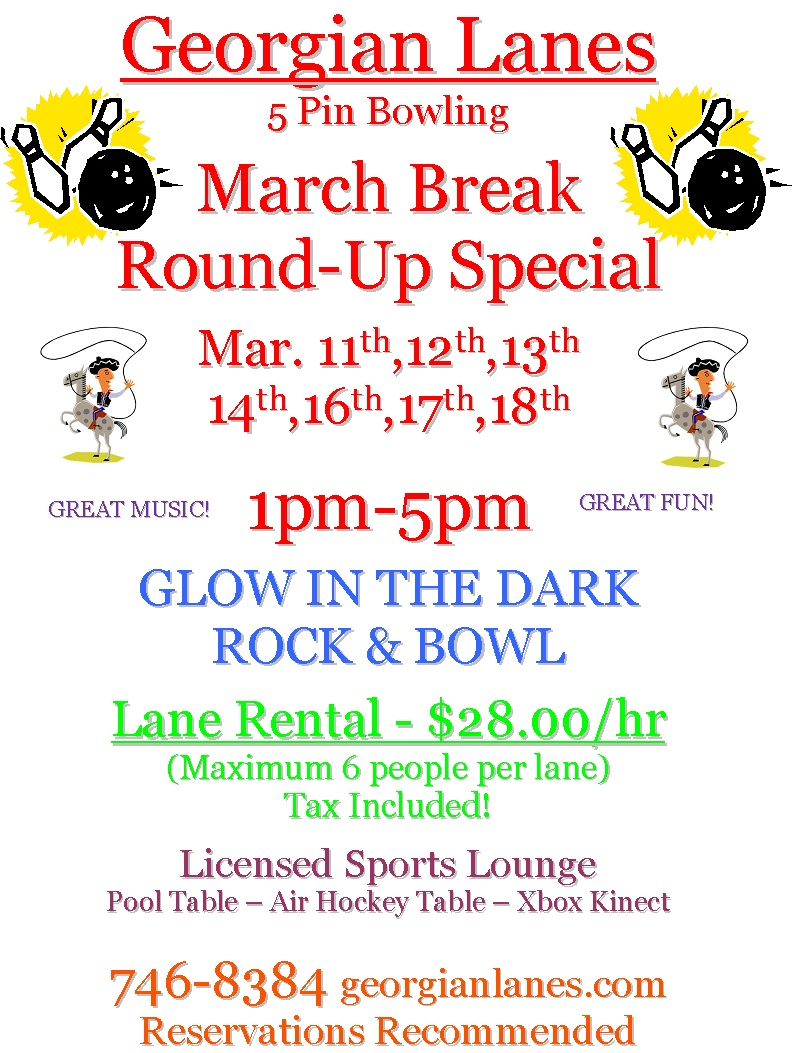 Georgian Lanes March Break Roundup